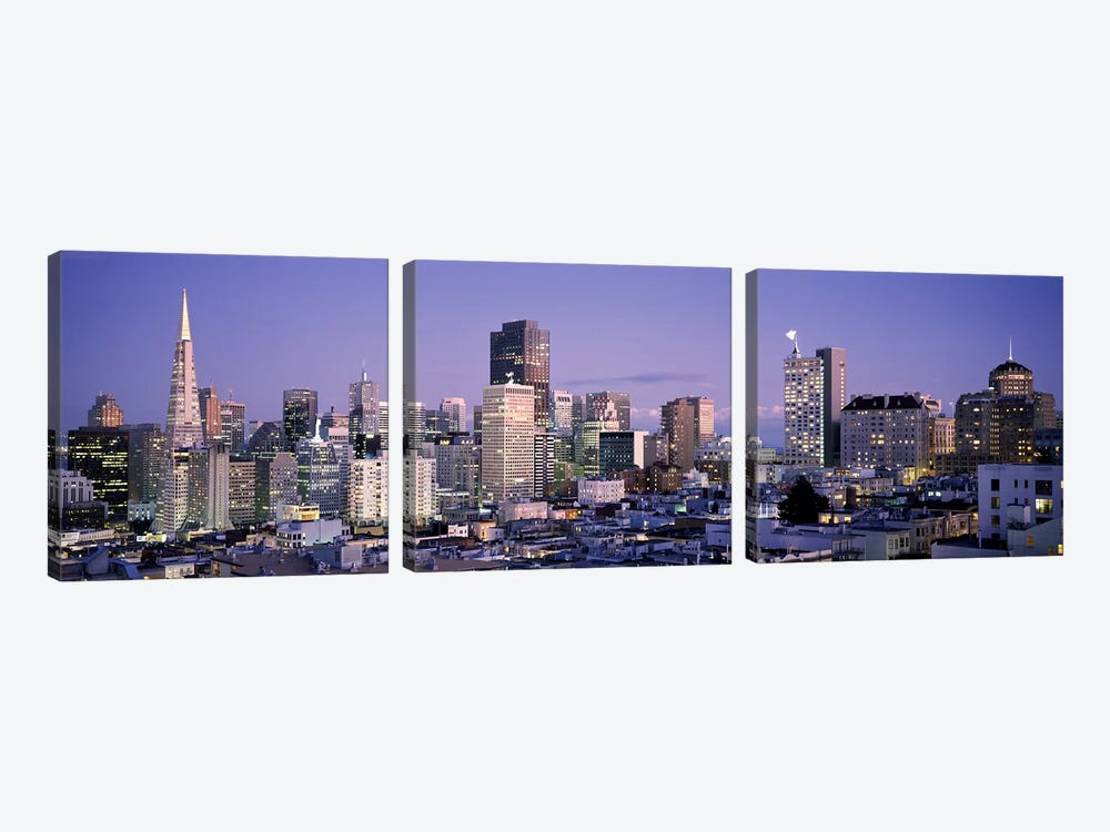 High angle view of a city, San Francisco, California, USA #3 by Panoramic Images 3-piece Art Print