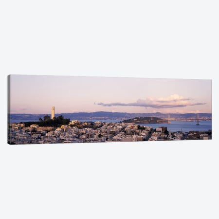 High angle view of a city, Coit Tower, Telegraph Hill, San Francisco, California, USA Canvas Print #PIM7721} by Panoramic Images Canvas Wall Art