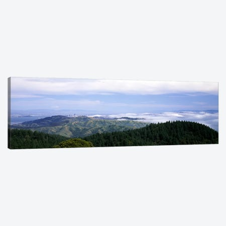 View of San Francisco from Mt Tamalpais, Marin County, California, USA Canvas Print #PIM7725} by Panoramic Images Canvas Print
