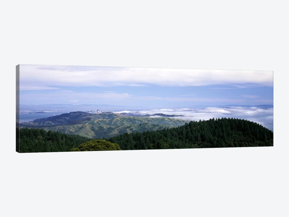 View of San Francisco from Mt Tamalpais, Marin County, California, USA by Panoramic Images 1-piece Canvas Artwork