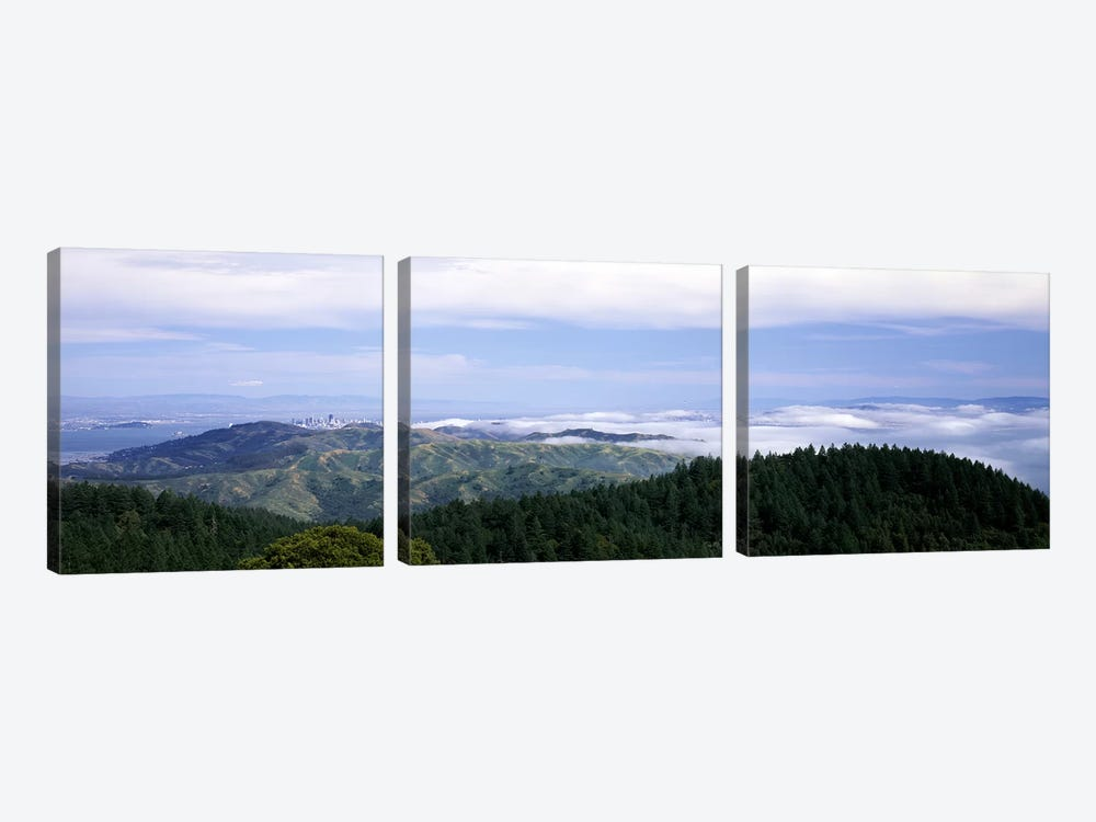 View of San Francisco from Mt Tamalpais, Marin County, California, USA by Panoramic Images 3-piece Canvas Art
