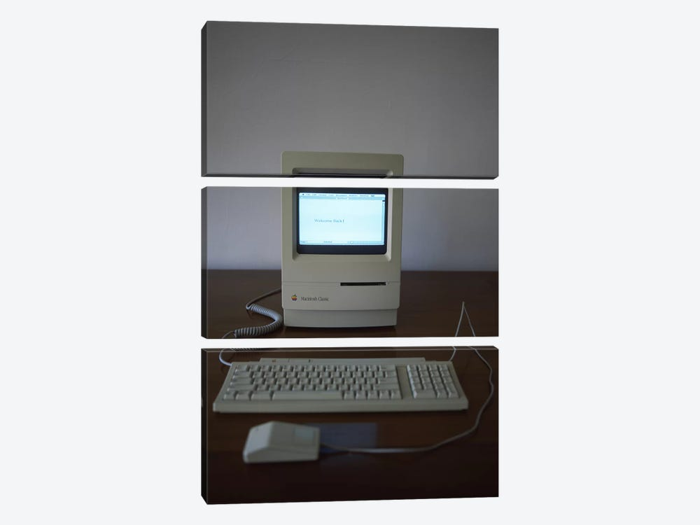 Apple Macintosh Classic desktop PC 3-piece Canvas Wall Art