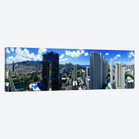 360 degree view of a city, Waikiki Beach, Oahu, Honolulu, Hawaii, USA Canvas Print #PIM7739} by Panoramic Images Art Print
