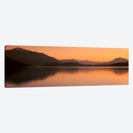 Lake Zug in the Evening Mt Rigi & Mt Pilatus Switzerland Canvas Print #PIM773} by Panoramic Images Canvas Artwork