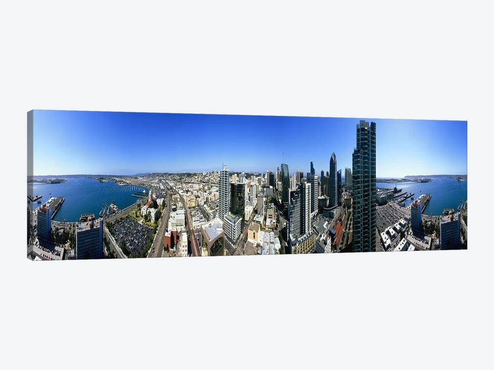 360 degree view of a city, San Diego, California, USA by Panoramic Images 1-piece Canvas Print
