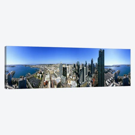 360 degree view of a city, San Diego, California, USA Canvas Print #PIM7740} by Panoramic Images Canvas Art