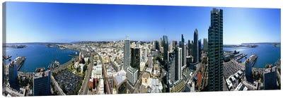 360 degree view of a city, San Diego, California, USA Canvas Art Print