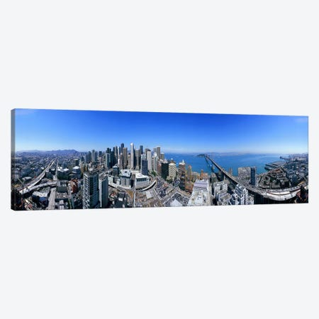 360 degree view of a city, Rincon Hill, San Francisco, California, USA Canvas Print #PIM7741} by Panoramic Images Canvas Artwork