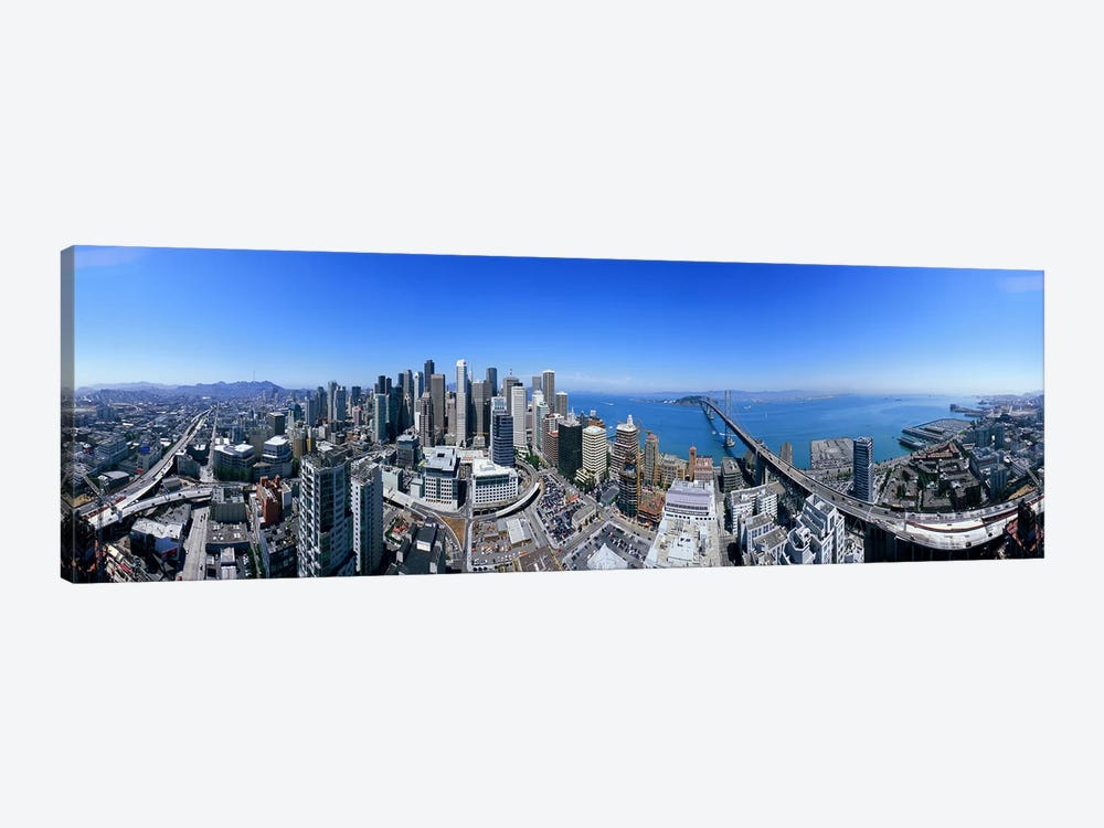 360 degree view of a city, Rincon Hill, San Francisco, California, USA by Panoramic Images 1-piece Canvas Wall Art