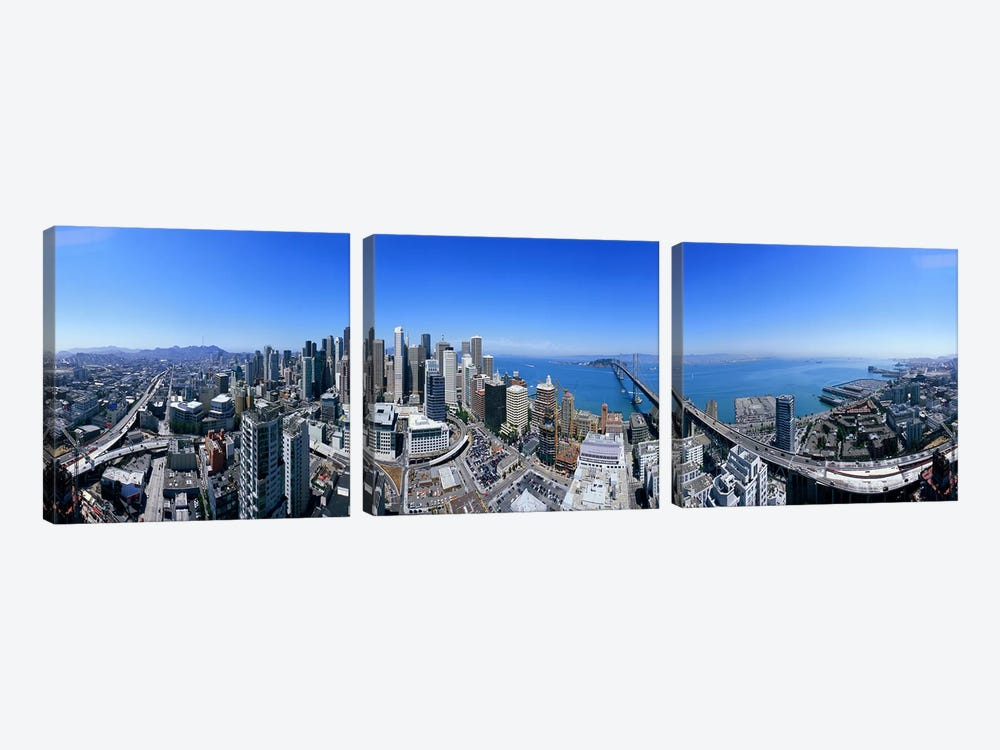 360 degree view of a city, Rincon Hill, San Francisco, California, USA by Panoramic Images 3-piece Canvas Artwork