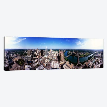 360 degree view of a city, Austin, Travis county, Texas, USA Canvas Print #PIM7742} by Panoramic Images Canvas Art