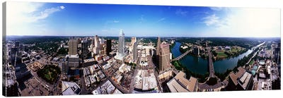 360 degree view of a city, Austin, Travis county, Texas, USA Canvas Art Print