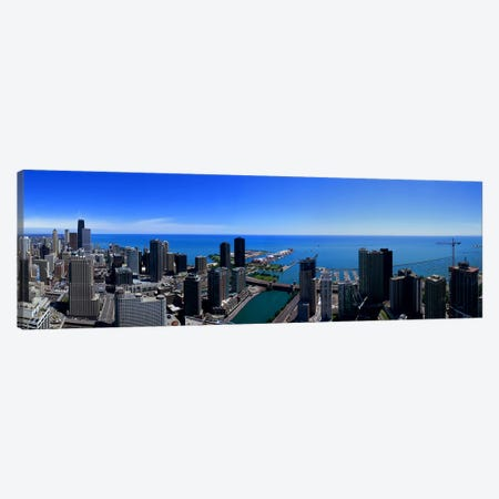 Buildings in a city, Chicago River, Chicago, Cook County, Illinois, USA Canvas Print #PIM7745} by Panoramic Images Art Print