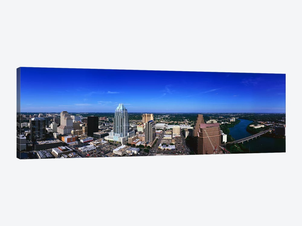 Aerial view of a city, Austin, Travis county, Texas, USA by Panoramic Images 1-piece Canvas Art Print