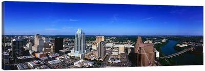 Aerial view of a city, Austin, Travis county, Texas, USA Canvas Art Print