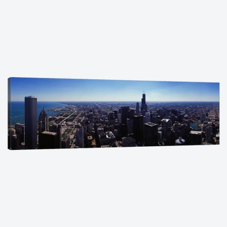 Aerial view of a city, Chicago River, Chicago, Cook County, Illinois, USA Canvas Print #PIM7747} by Panoramic Images Art Print