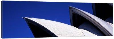 Low angle view of opera house sails, Sydney Opera House, Sydney Harbor, Sydney, New South Wales, Australia Canvas Print #PIM7749