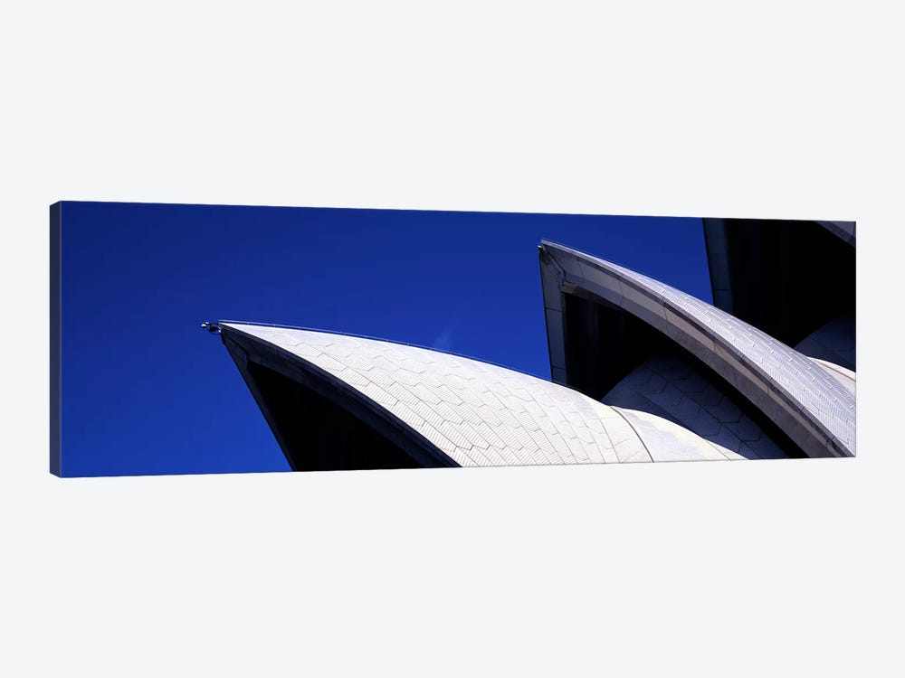 Low angle view of opera house sails, Sydney Opera House, Sydney Harbor, Sydney, New South Wales, Australia by Panoramic Images 1-piece Canvas Wall Art