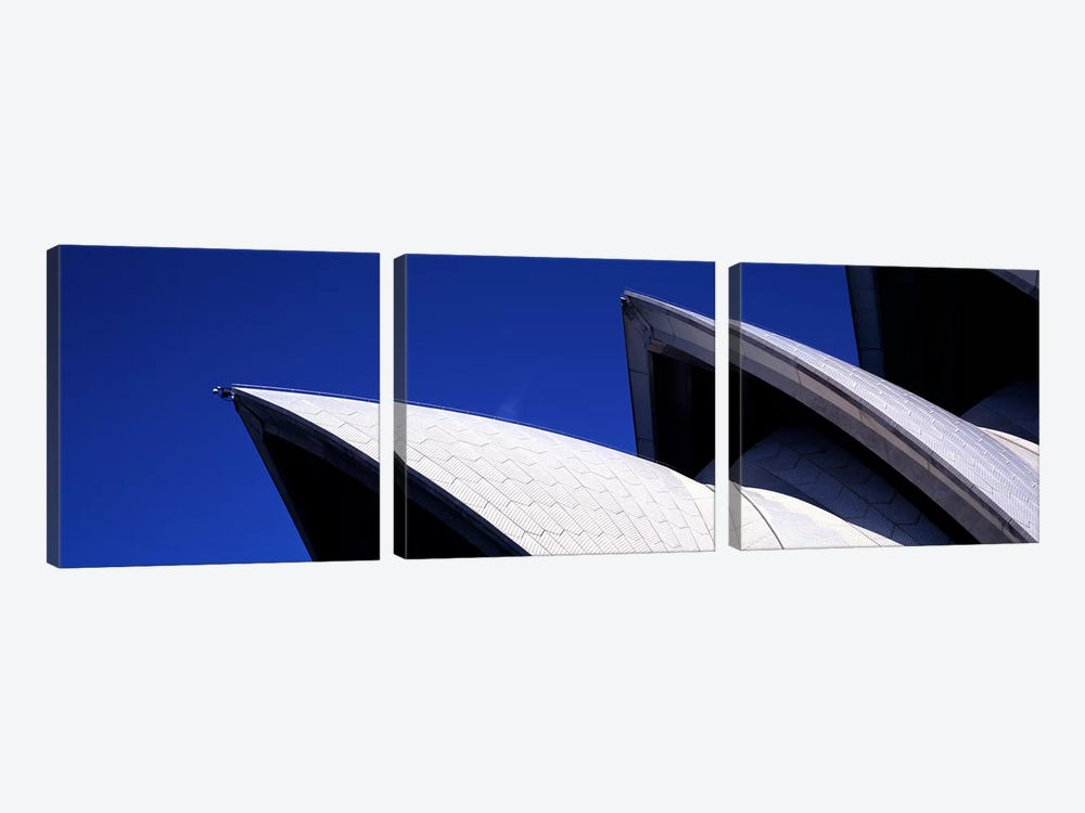 Low angle view of opera house sails, Sydney Opera House, Sydney Harbor, Sydney, New South Wales, Australia by Panoramic Images 3-piece Canvas Wall Art