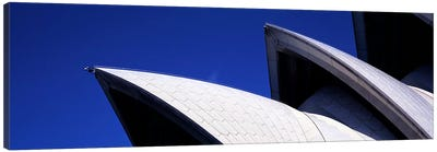 Low angle view of opera house sails, Sydney Opera House, Sydney Harbor, Sydney, New South Wales, Australia Canvas Art Print