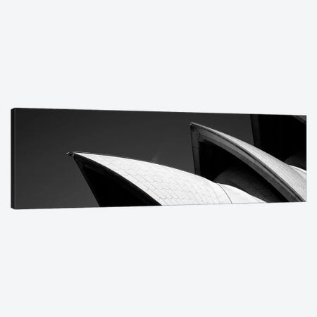 Low angle view of opera house sails, Sydney Opera House, Sydney Harbor, Sydney, New South Wales, Australia (black & white) Canvas Print #PIM7749bw} by Panoramic Images Canvas Artwork