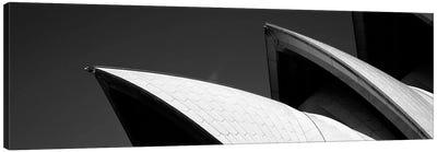 Low angle view of opera house sails, Sydney Opera House, Sydney Harbor, Sydney, New South Wales, Australia (black & white) Canvas Print #PIM7749bw