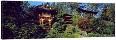 Pagodas in a park, Japanese Tea Garden, Golden Gate Park, Asian Art Museum, San Francisco, California, USA Canvas Print #PIM7751