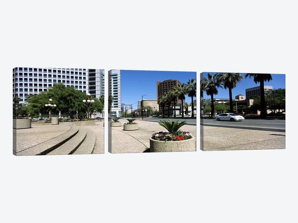 Office buildings in a cityDowntown San Jose, San Jose, Santa Clara County, California, USA by Panoramic Images 3-piece Canvas Art Print