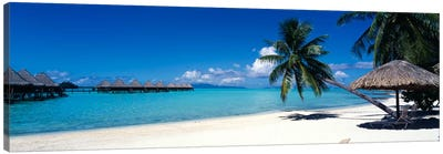 Tropical Beach, Bora Bora, Leeward Islands, Society Islands, French Polynesia Canvas Art Print