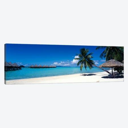 Tropical Beach, Bora Bora, Leeward Islands, Society Islands, French Polynesia Canvas Print #PIM776} by Panoramic Images Art Print