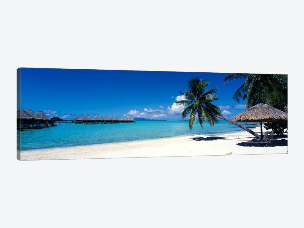 Tropical Beach, Bora Bora, Leeward Islands, Society Islands, French Polynesia by Panoramic Images 1-piece Canvas Art