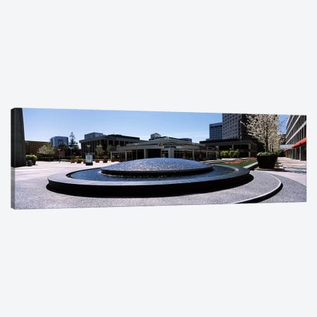 Fountain in a parkPlaza De Cesar Chavez, Downtown San Jose, San Jose, Santa Clara County, California, USA Canvas Print #PIM7771} by Panoramic Images Canvas Art Print