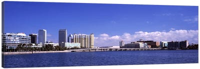 City at the waterfront, Hillsborough Bay, Tampa, Hillsborough County, Florida, USA Canvas Art Print