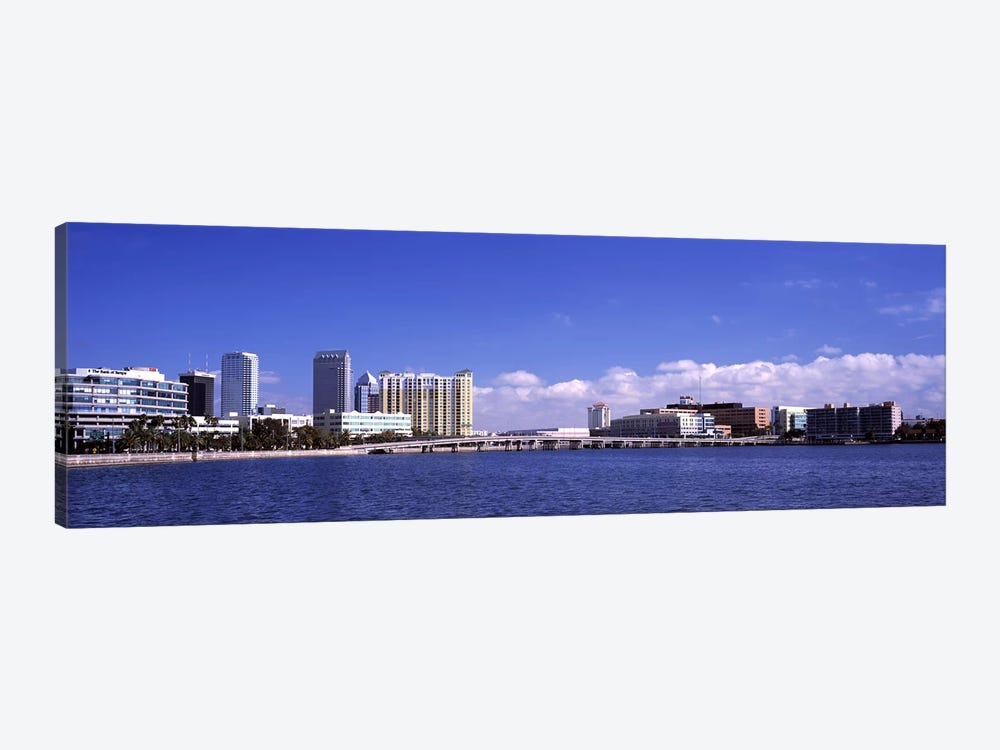 City at the waterfront, Hillsborough Bay, Tampa, Hillsborough County, Florida, USA by Panoramic Images 1-piece Canvas Print