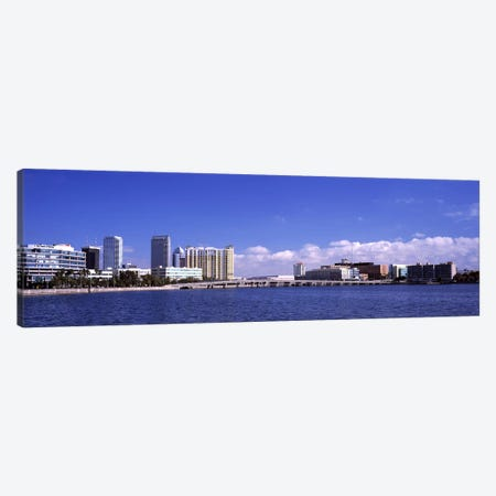 City at the waterfront, Hillsborough Bay, Tampa, Hillsborough County, Florida, USA Canvas Print #PIM7777} by Panoramic Images Canvas Art
