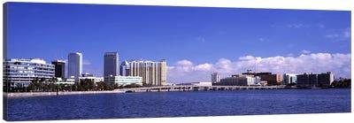 City at the waterfront, Hillsborough Bay, Tampa, Hillsborough County, Florida, USA Canvas Art Print