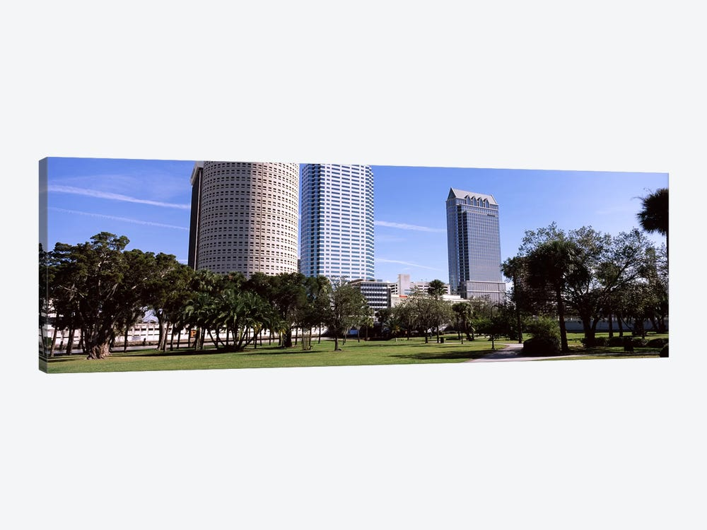 Buildings in a city viewed from a park, Plant Park, University Of Tampa, Tampa, Hillsborough County, Florida, USA by Panoramic Images 1-piece Canvas Artwork