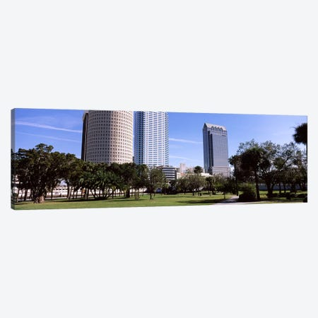 Buildings in a city viewed from a park, Plant Park, University Of Tampa, Tampa, Hillsborough County, Florida, USA Canvas Print #PIM7778} by Panoramic Images Canvas Art Print