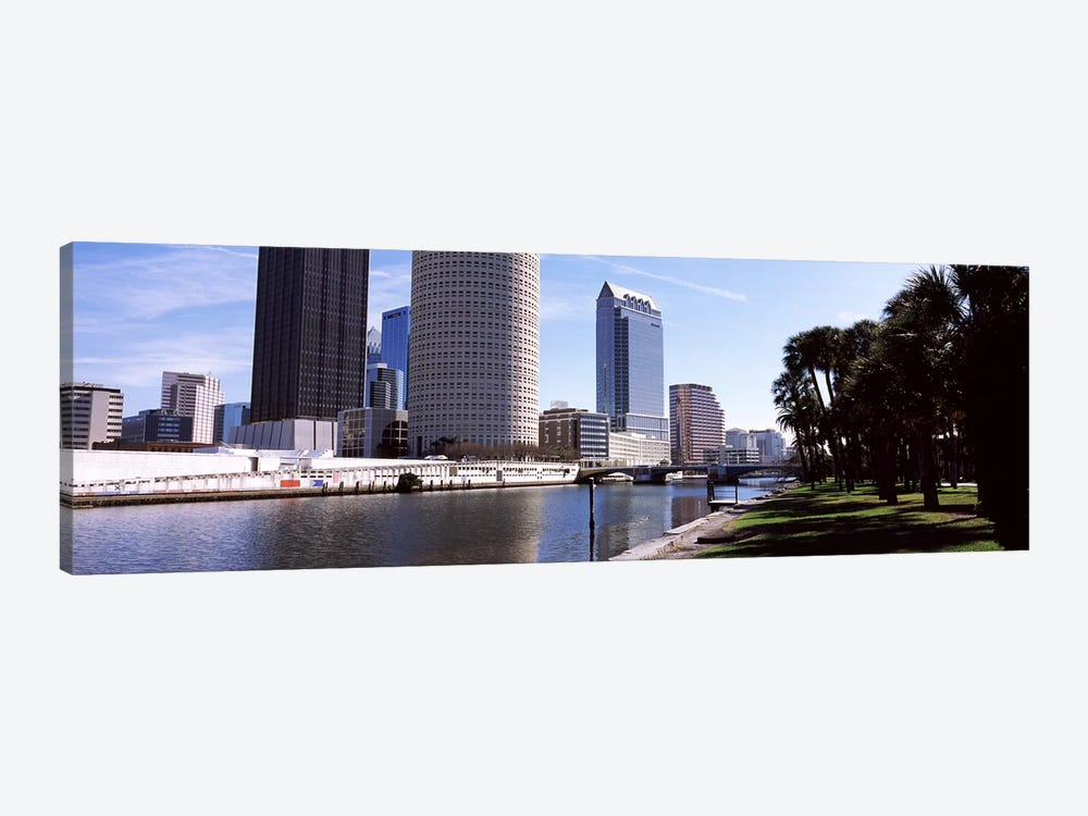 Buildings viewed from the riversideHillsborough River, University of Tampa, Tampa, Hillsborough County, Florida, USA by Panoramic Images 1-piece Canvas Print