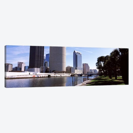 Buildings viewed from the riversideHillsborough River, University of Tampa, Tampa, Hillsborough County, Florida, USA Canvas Print #PIM7779} by Panoramic Images Canvas Print
