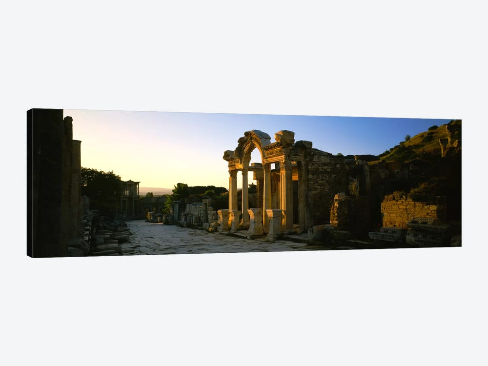 Facade of a temple, Hadrian Temple, Ephesus, Turkey by Panoramic Images 1-piece Canvas Art Print