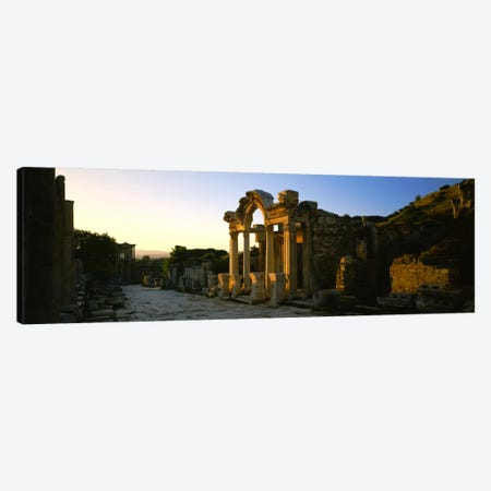 Facade of a temple, Hadrian Temple, Ephesus, Turkey Canvas Print #PIM777} by Panoramic Images Canvas Print