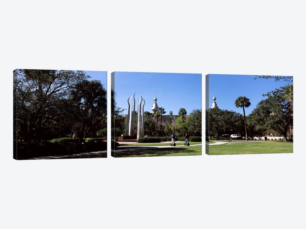 University students in the campusPlant Park, University of Tampa, Tampa, Hillsborough County, Florida, USA by Panoramic Images 3-piece Art Print