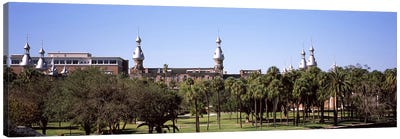 Trees in a campusPlant Park, University of Tampa, Tampa, Hillsborough County, Florida, USA Canvas Art Print