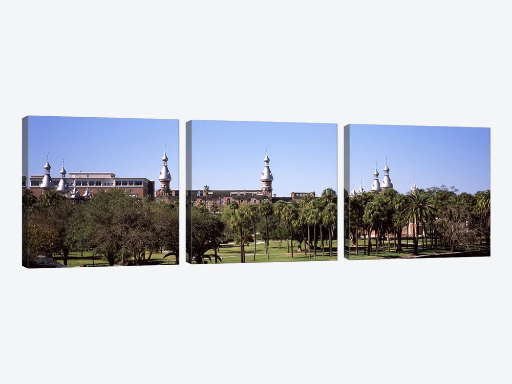 Trees in a campusPlant Park, University of Tampa, Tampa, Hillsborough County, Florida, USA by Panoramic Images 3-piece Canvas Art