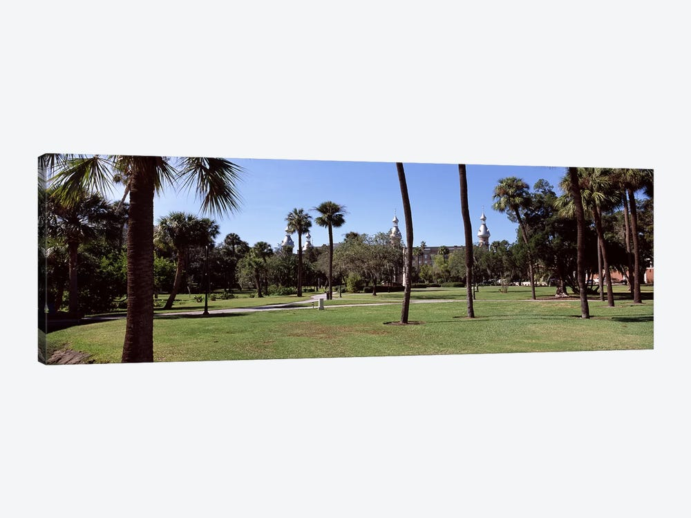 Trees in a campusPlant Park, University of Tampa, Tampa, Hillsborough County, Florida, USA by Panoramic Images 1-piece Art Print