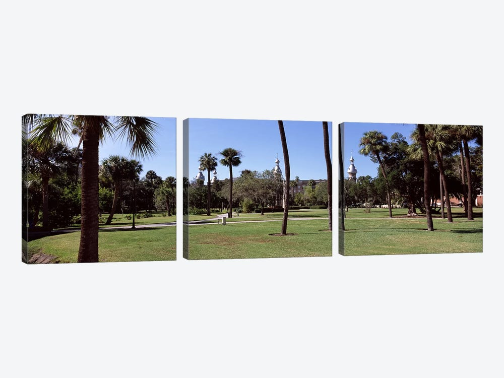 Trees in a campusPlant Park, University of Tampa, Tampa, Hillsborough County, Florida, USA by Panoramic Images 3-piece Canvas Art Print