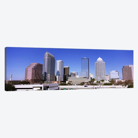 Skyscraper in a city, Tampa, Hillsborough County, Florida, USA Canvas Print #PIM7783} by Panoramic Images Canvas Wall Art