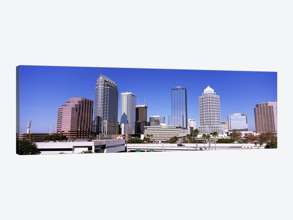 Skyscraper in a city, Tampa, Hillsborough County, Florida, USA by Panoramic Images 1-piece Canvas Wall Art