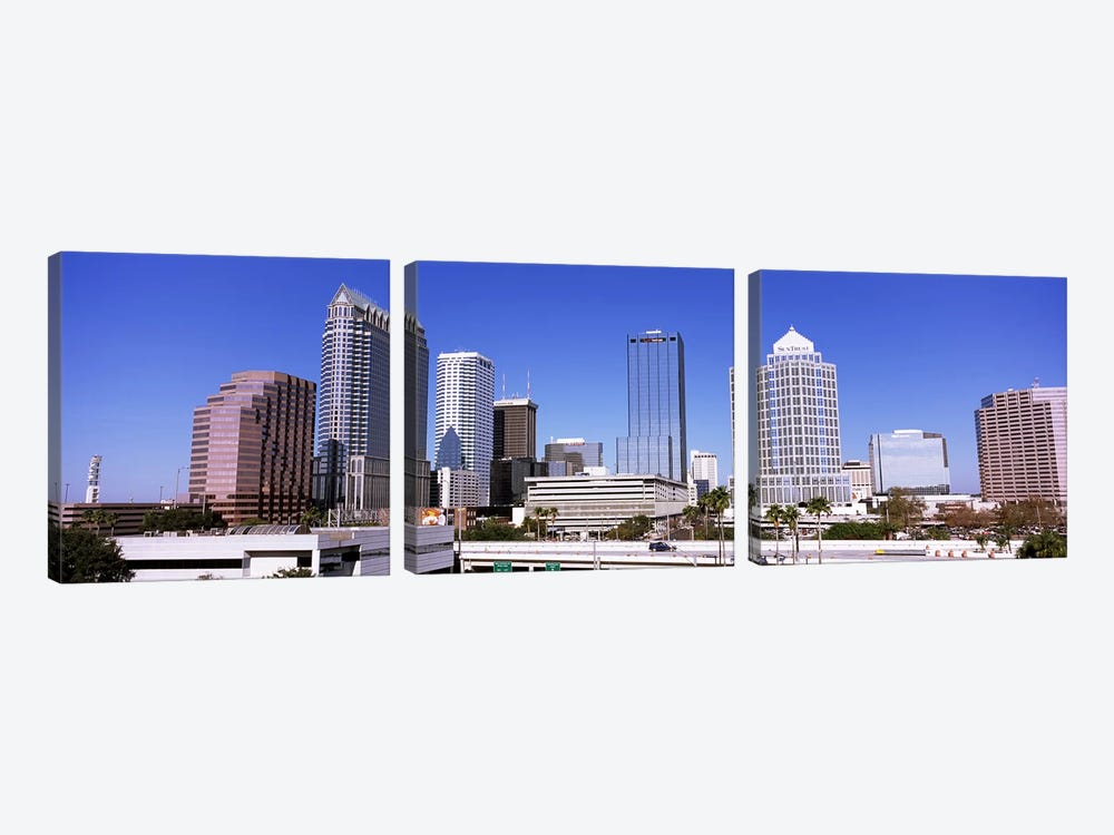 Skyscraper in a city, Tampa, Hillsborough County, Florida, USA by Panoramic Images 3-piece Canvas Art